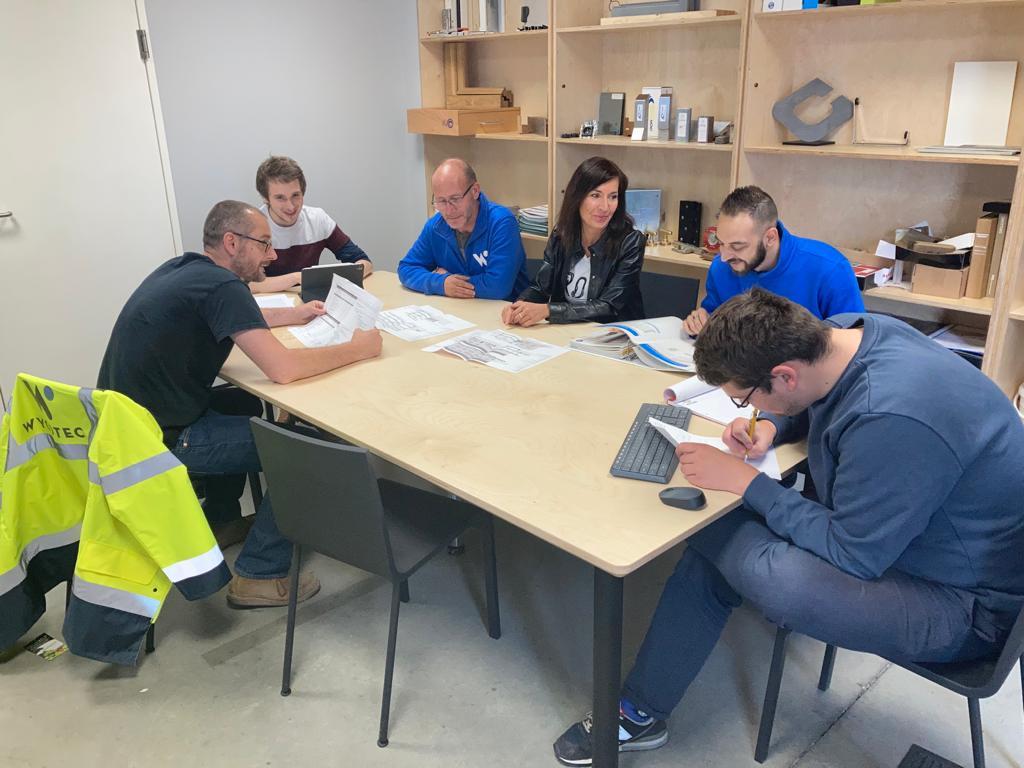 Team du projet de construction de Wycotec.